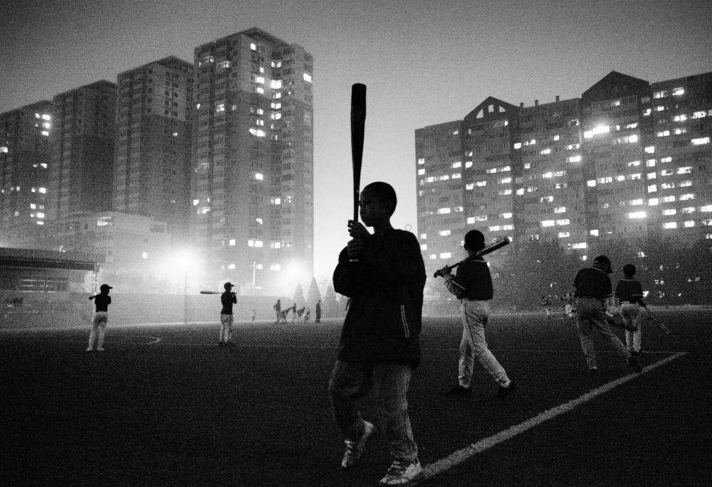 Jeunes joueurs de baseball