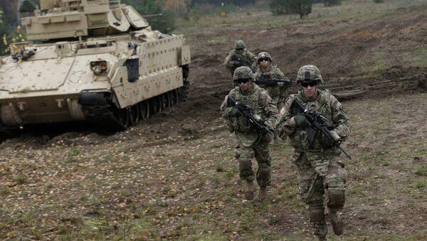 Soldats américains lors d'exercices en Lettonie - Sputnik France