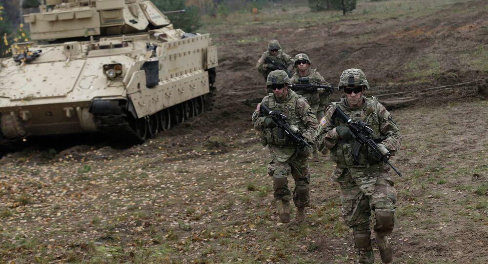 Militaires américains lors d'exercices en Lettonie