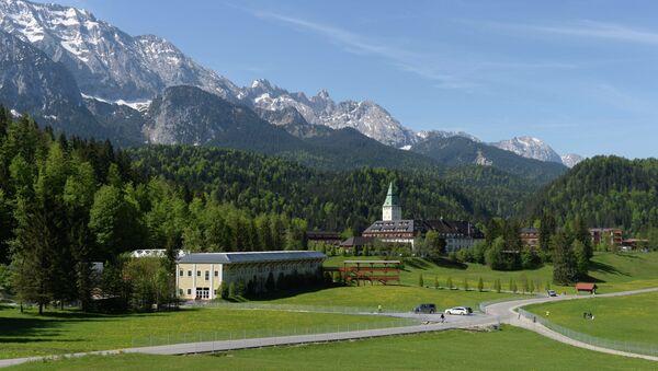 The castle hotel Schloss Elmau is pictured in Elmau near Garmisch-Partenkirchen, southern Germany - Sputnik France