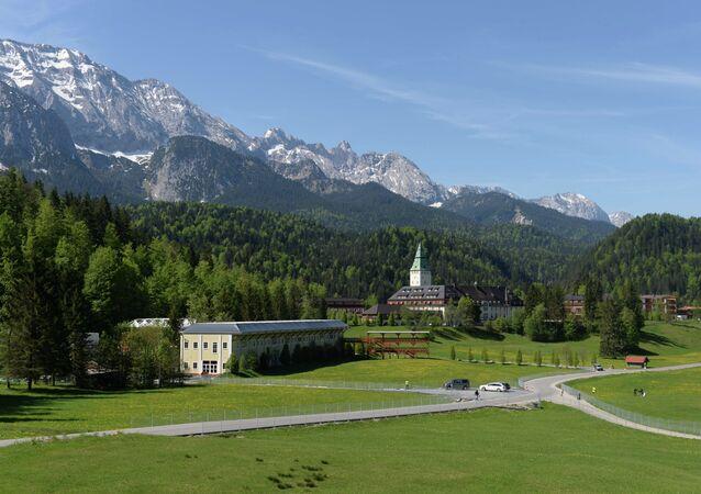 Les montagnes prés de Garmisch-Partenkirchen