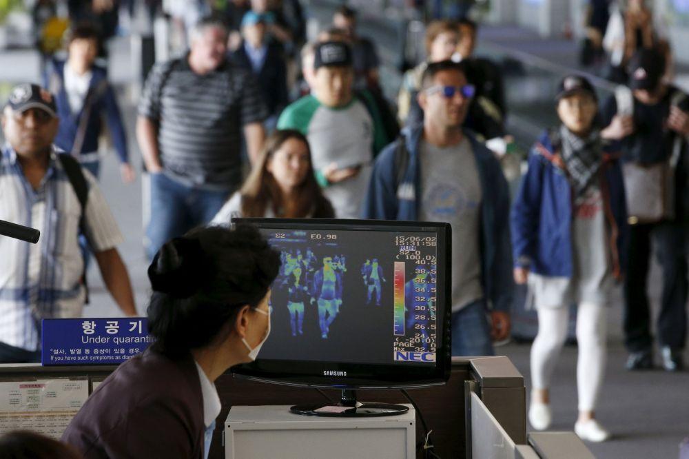 Caméras thermiques installées à l'aéroport international d'Incheon