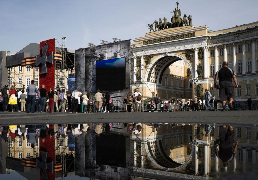 La place du Palais de Saint-Pétersbourg