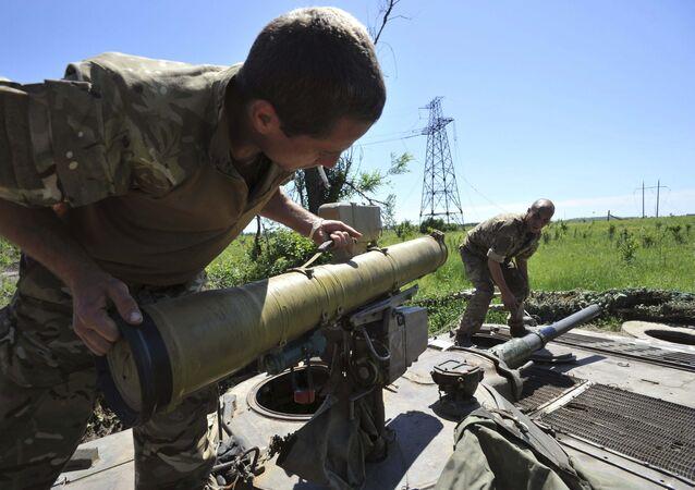 Des représentants des forces armées ukrainiennes, Donetsk, juin 2015