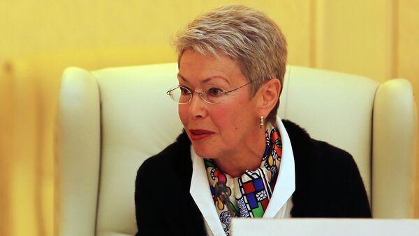 Organization for Security and Cooperation in Europe Ambassador Heidi Tagliavini speaks during talks on a cease-fire in Ukraine in Minsk, Belarus, Friday, Sept. 5, 2014. - Sputnik France