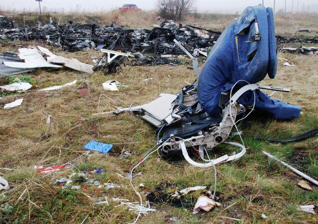 Les fragments du Boeing 777 de Malaysia Airlines