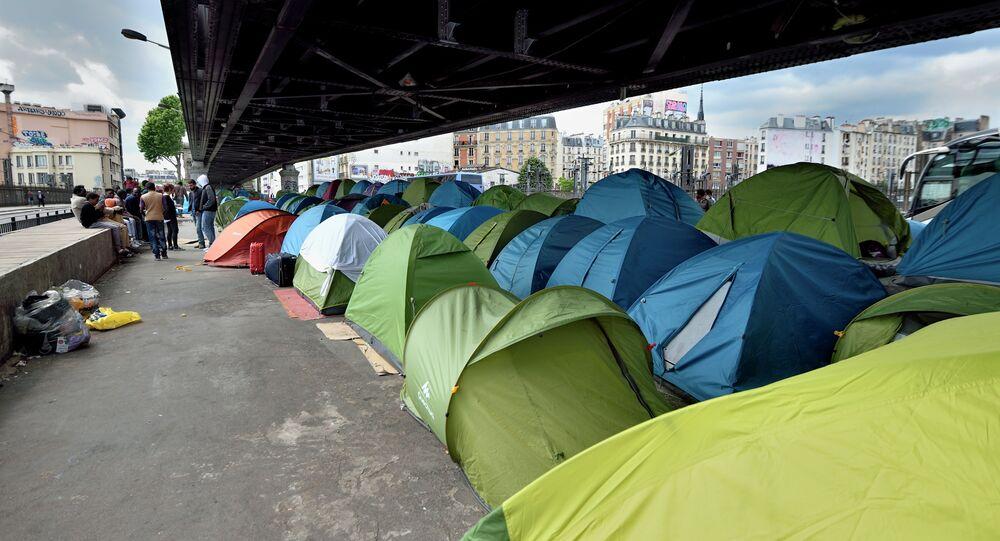 Migrants de La Chapelle (mai 2015)
