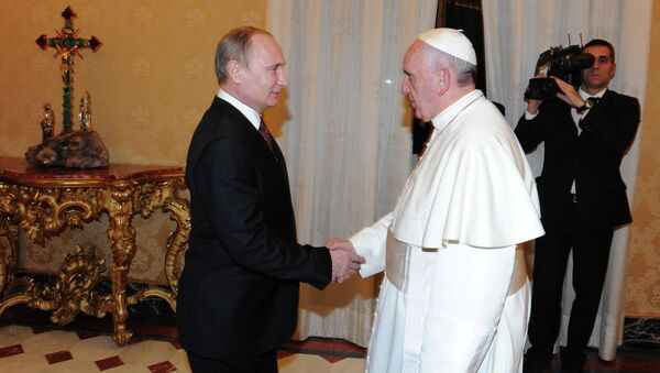 Vladimir Putin visits Vatican - Sputnik France