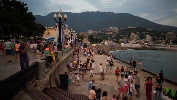 Les touristes en Crimée. - Sputnik France