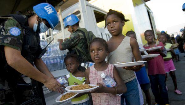 Les Casques bleus de l'Onu en Haïti - Sputnik France
