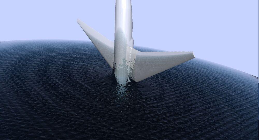 Un avion tombe dans l'eau (image d'illustration)