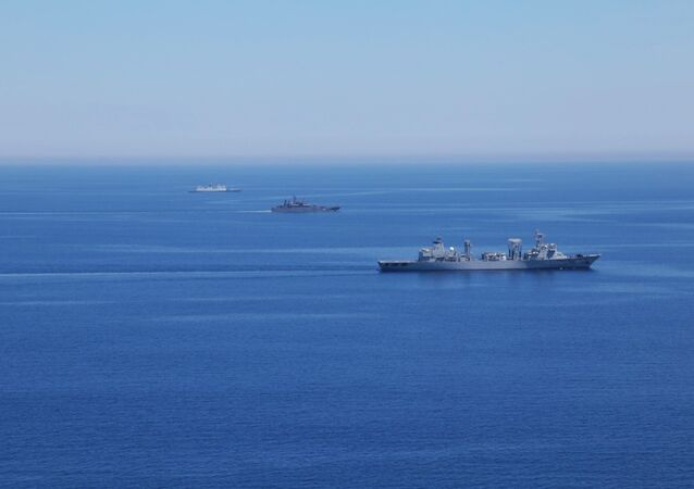 Les exercices en mer Méditerranée