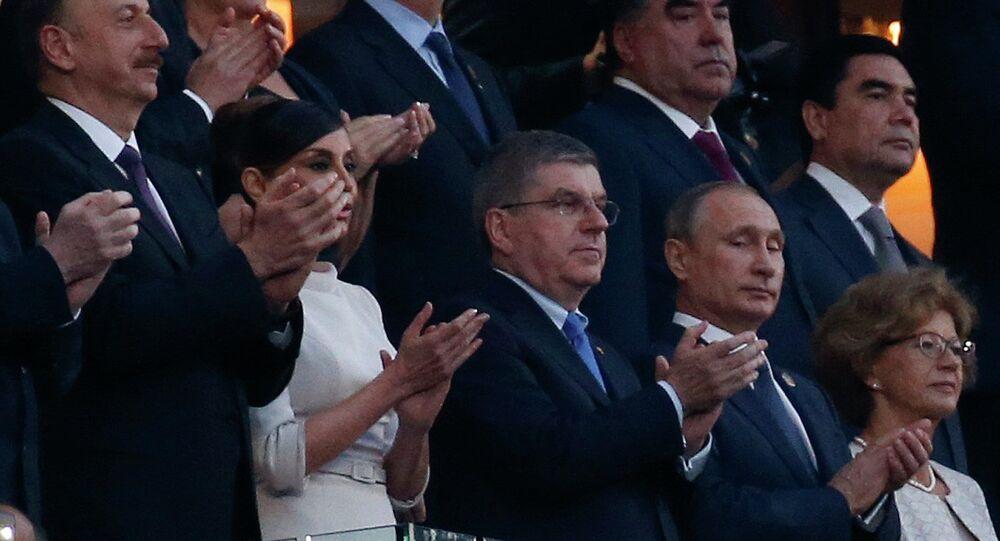 La cérémonie d'ouverture des Jeux européens, 2015