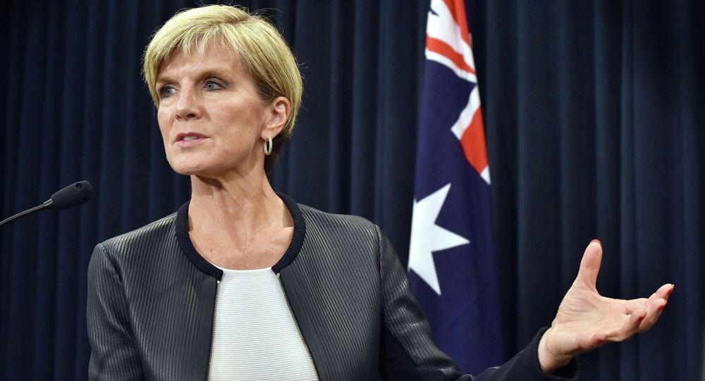 La chef de la diplomatie australienne, Julie Bishop