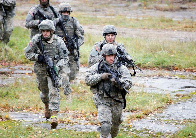 Soldats américains en Lettonie