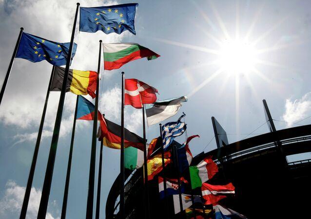 Drapeaux des pays membres de l'UE, Strasbourg
