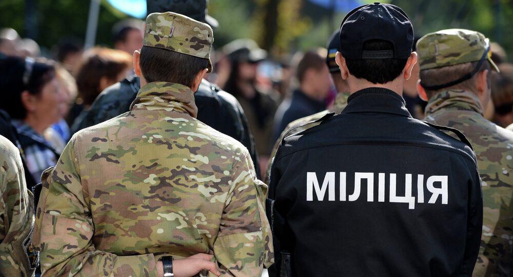 les policiers ukrainiens