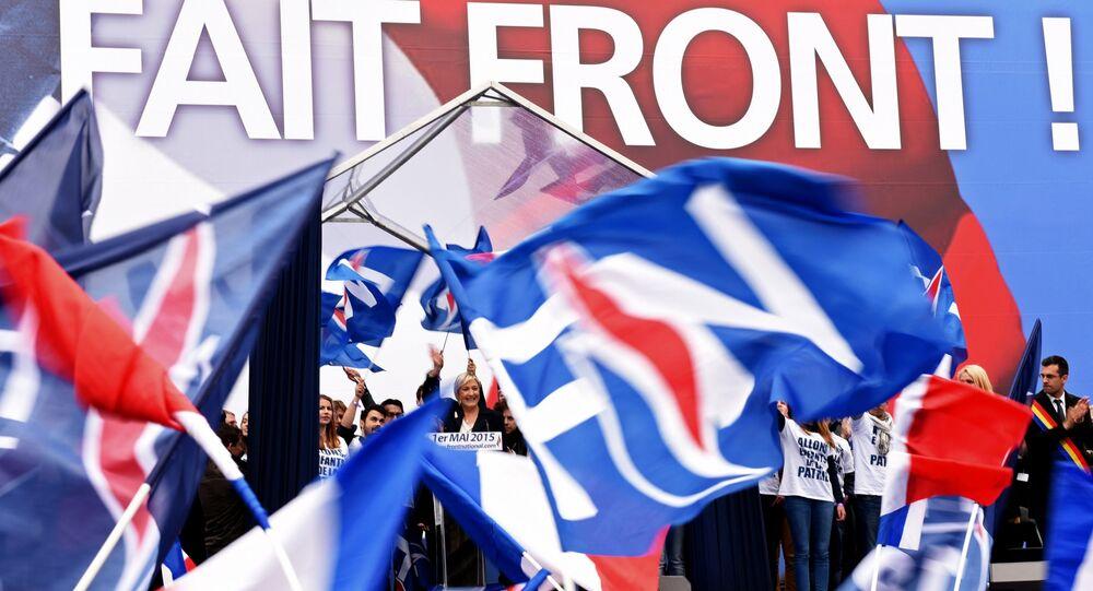 Une manifestation du Front national à Paris