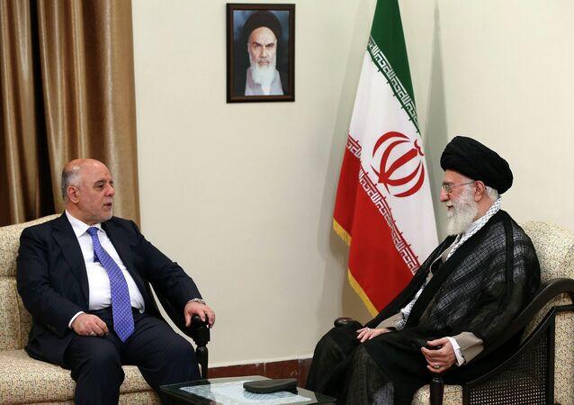 Haïder al-Abadi a été chaleureusement accueilli par le guide spirituel suprême d'Iran, l'ayatollah Khamenei, Juin 17, 2015
