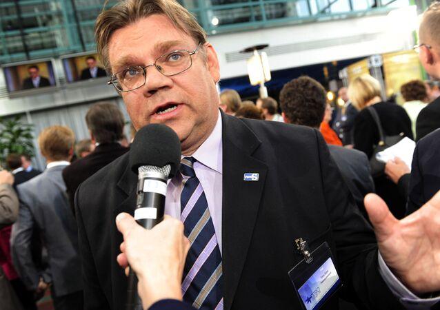 Timo Soini, président du parti des Vrais Finlandais
