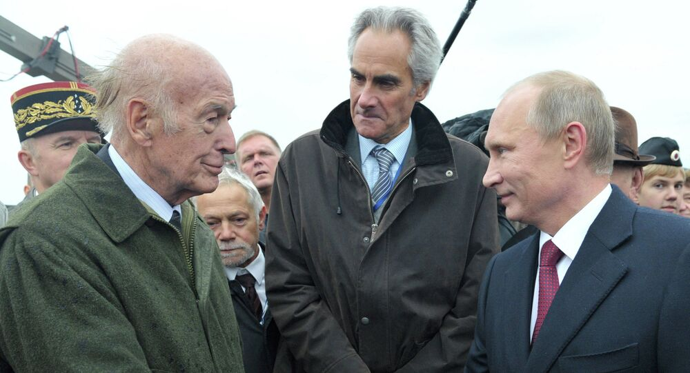 Giscard d'Estaing et Vladimir Poutine