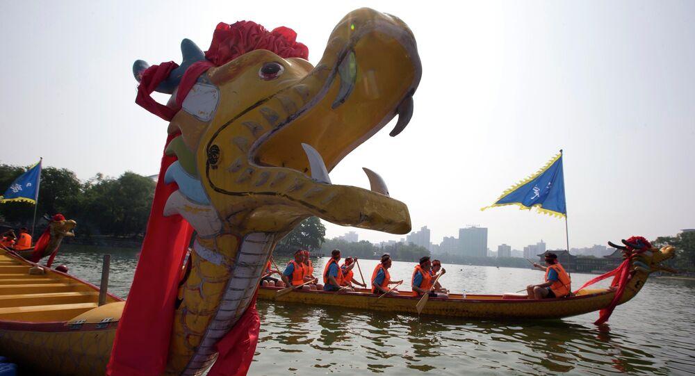 Bateau-dragon en Chine