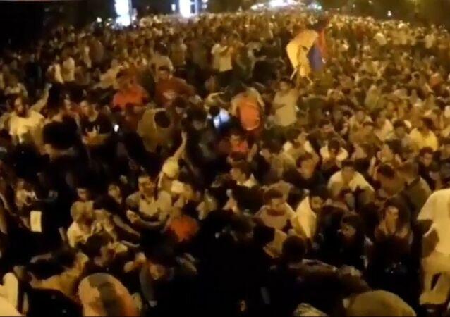 manifestation à Erevan