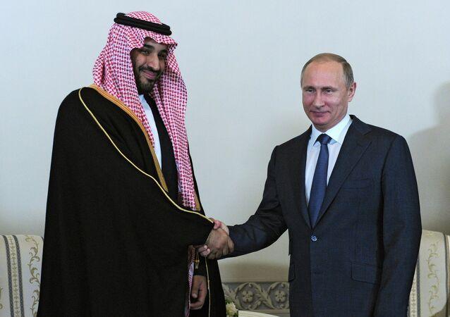 Mohammed ben Salman  et Vladimir Poutine