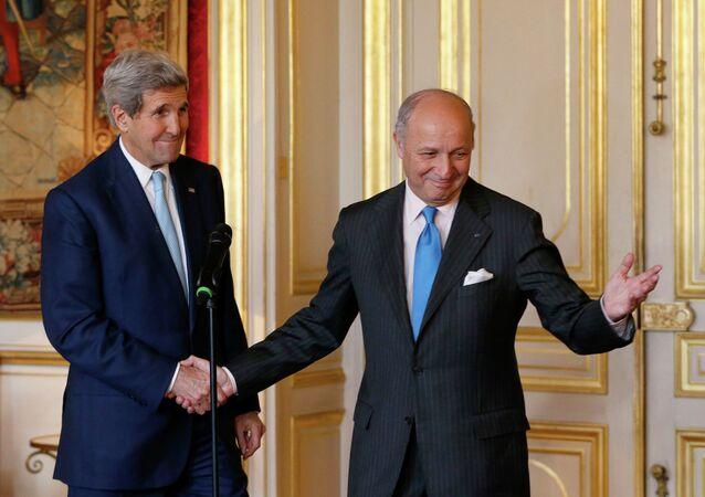 Laurent Fabius et John Kerry