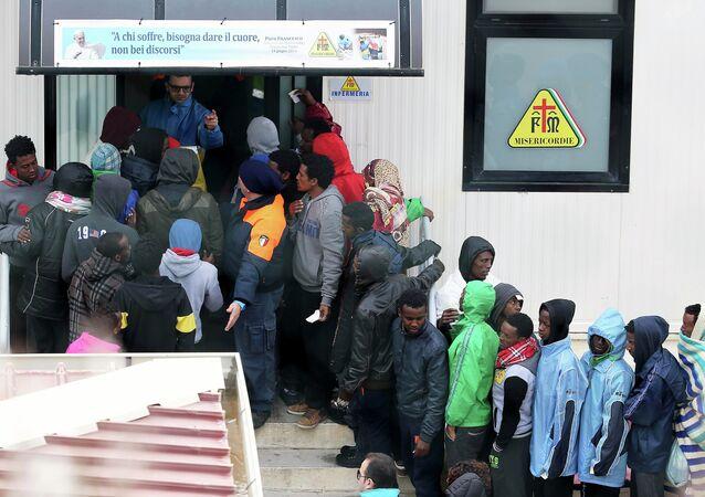 Immigrés à Lampedusa