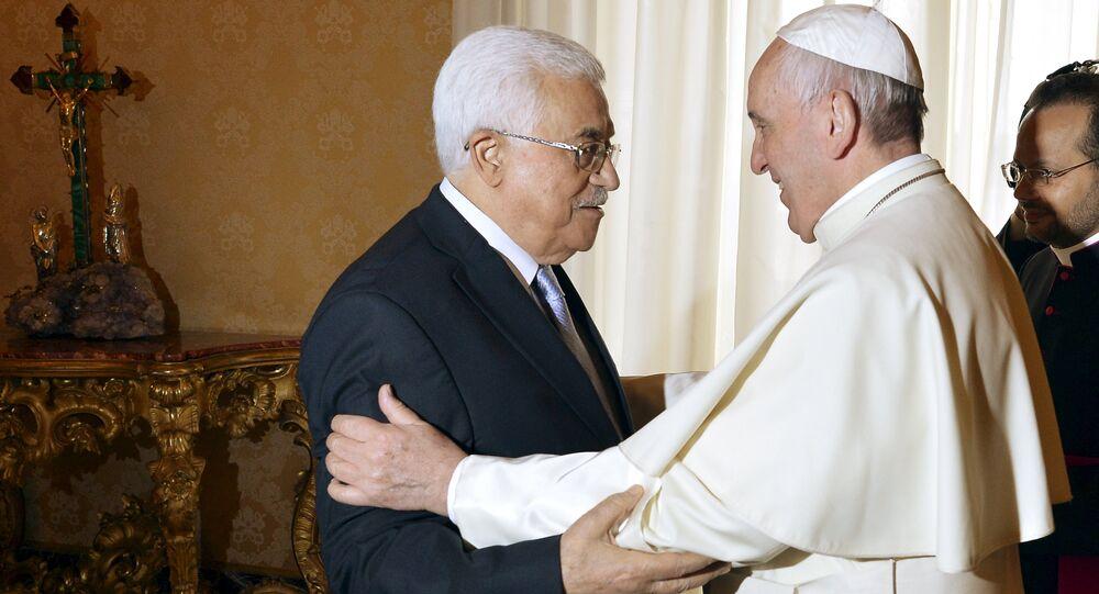 Le pape et Mahmoud Abbas