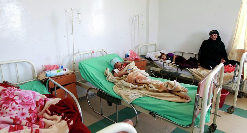 Les enfants blessés, Sanaa, Mai 12, 2015.