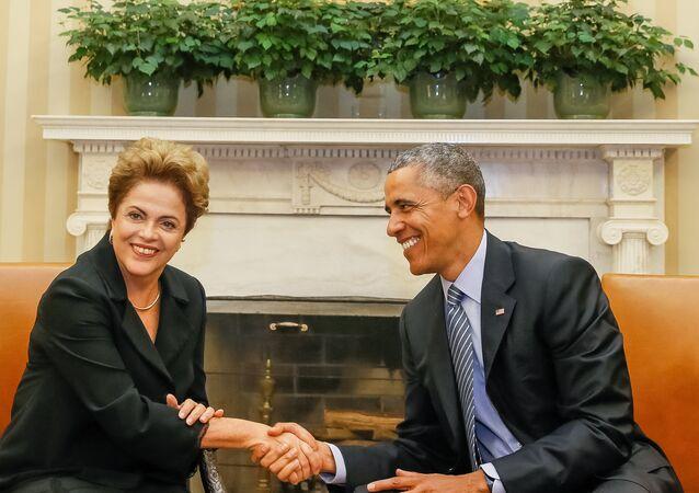 Dilma Rousseff et Barack Obama à Washington