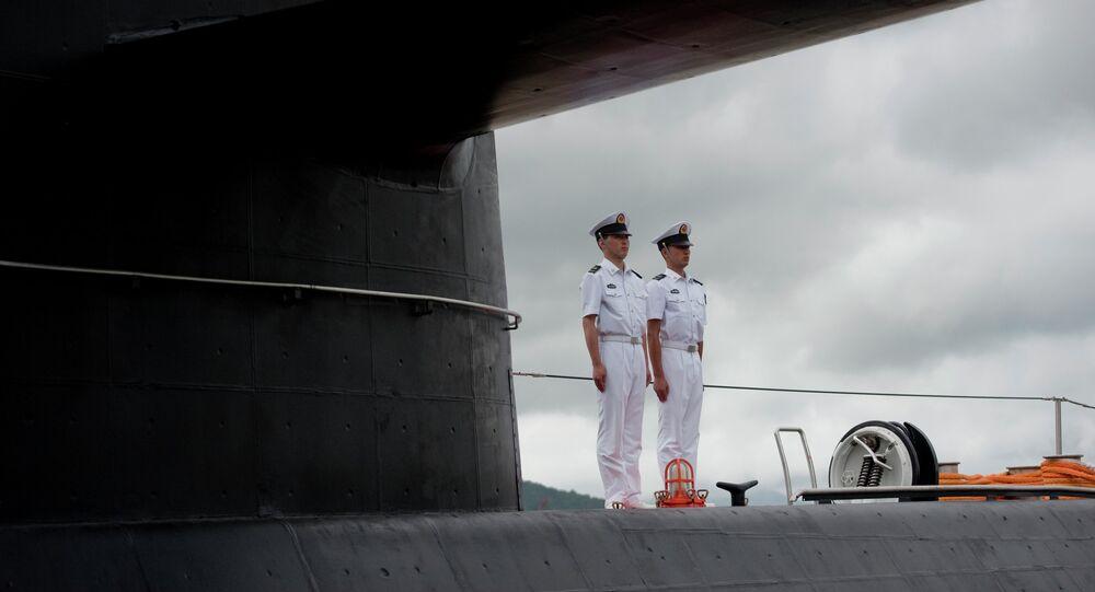 Marins chinois au bord d'un sous-marin Yuan (archives)