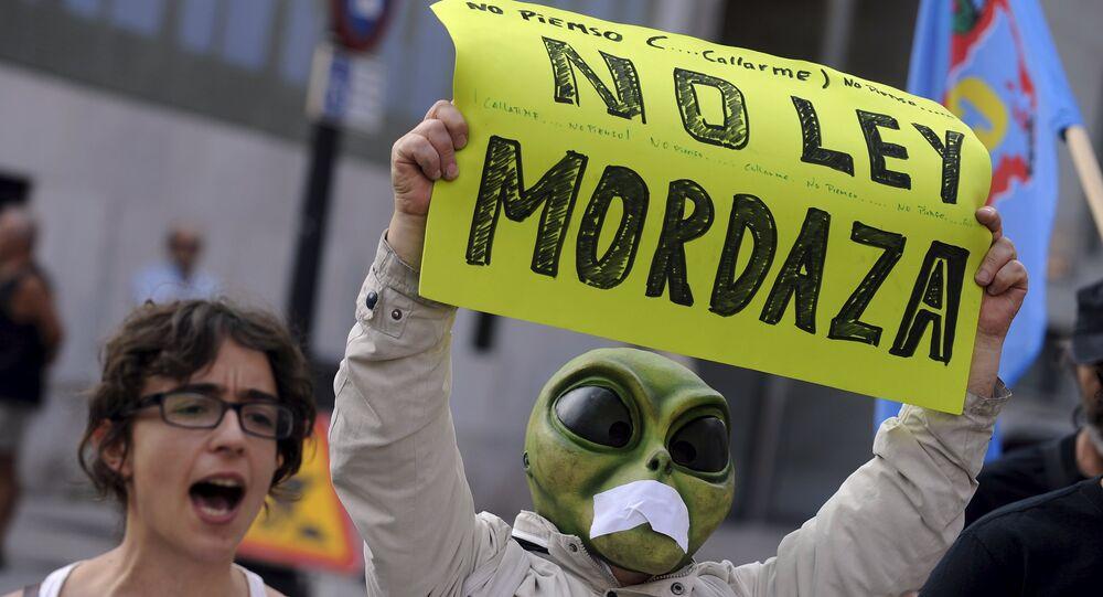 Protestations en Espagne
