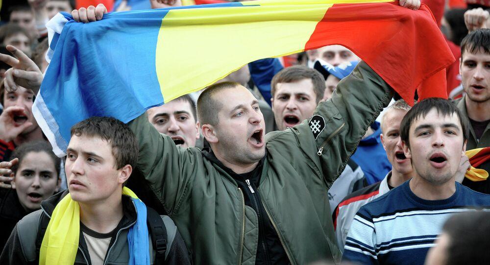 Manifestants à Chisinau. Archive photo