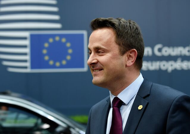 Luxembourg's Prime minister Xavier Bettel arrives for an European Council summit on March 19, 2015 at the Council of the European Union (EU) Justus Lipsius building in Brussels