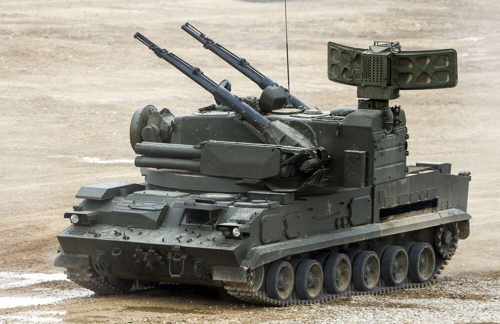 Un système de missile sol-air Toungouska (code Otan: SA-19 Grison)