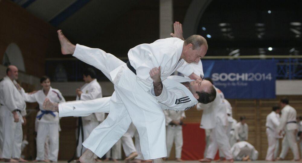 Vladimir Poutine sur le tatami
