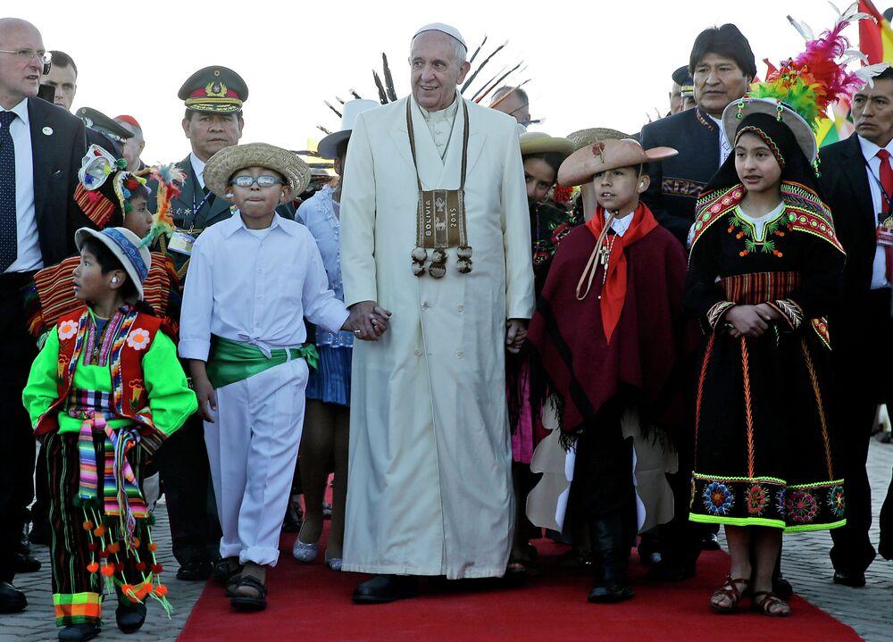 Le pape François en Bolivie