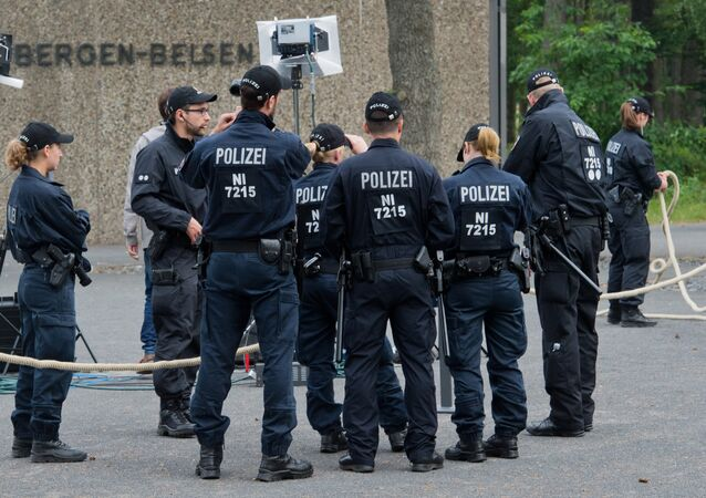 Police allemande. Archive photo