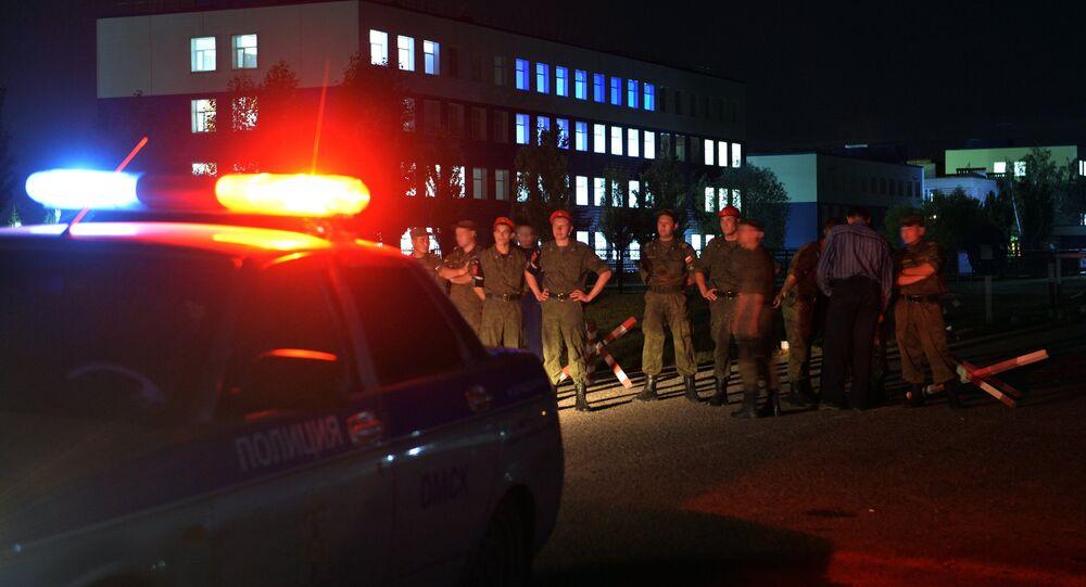 Effondrement d'une caserne à Omsk