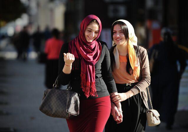 Femmes musulmanes portant le voile