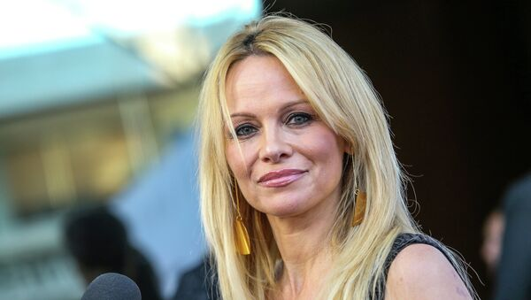 Pamela Anderson attends the world premiere of Unity at the DGA Theater on Wednesday, June 24, 2015 in Los Angeles - Sputnik France