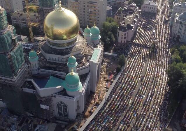 La fête musulmane de l'Aïd al-Fitr à Moscou