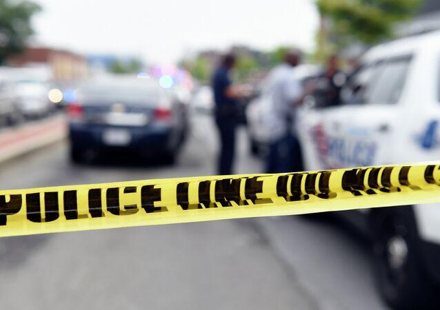 Ruban de la police aux USA