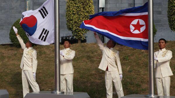 The flags of South Korea and China - Sputnik France