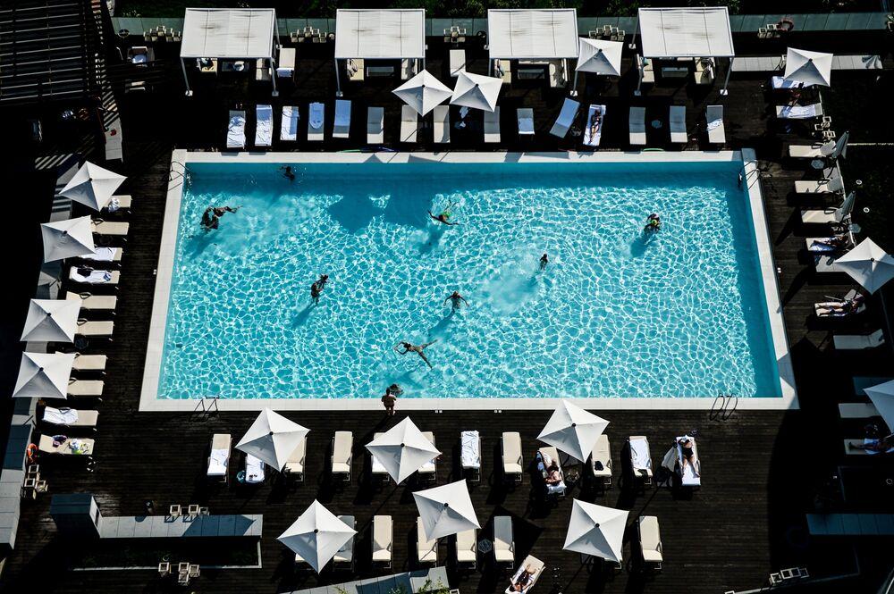 Une piscine de l'hôtel Hyatt de Sotchi