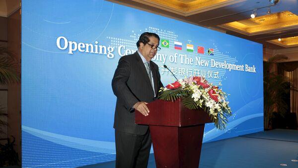 President of the New Development Bank (NDB) Kundapur Vaman Kamath gives a speech during a opening ceremony of the New Development Bank in Shanghai, China, July 21, 2015. - Sputnik France