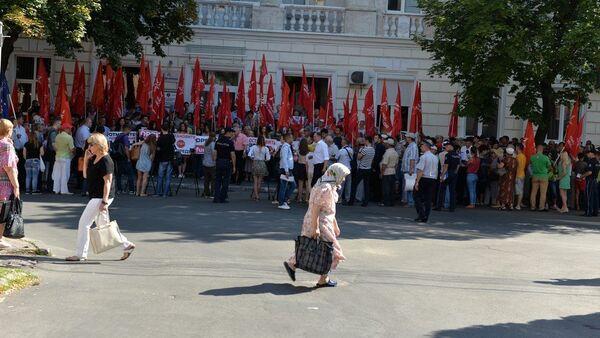 Protest PSRM - Sputnik France